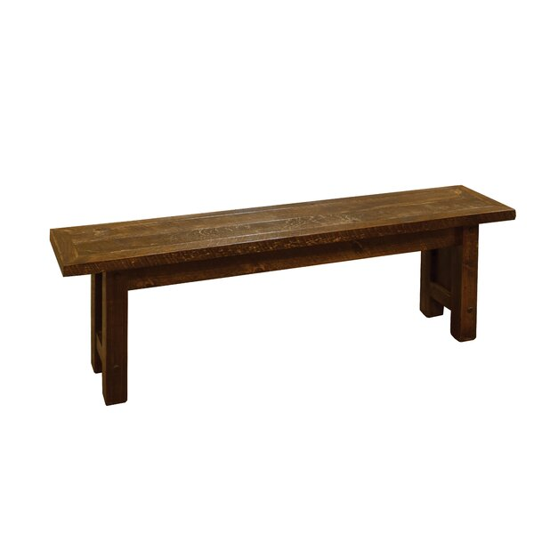 Rolla Wood Bench by Millwood Pines Millwood Pines