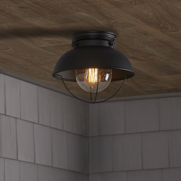Corbel 1-Light Outdoor Flush Mount by Beachcrest Home
