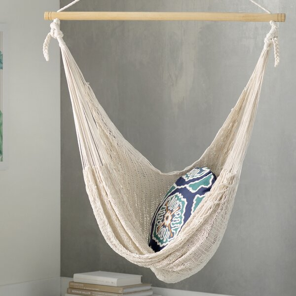 Deserted Beach Hand Woven Cotton Chair Hammock by Novica Novica