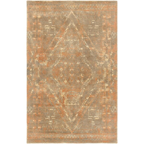 Cristal Hand-Tufted Rust/Brown Area Rug by Bungalow Rose