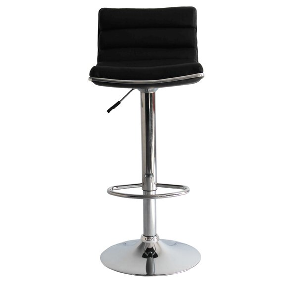 Linder Adjustable Height Swivel Bar Stool by Fine Mod Imports