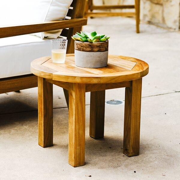 Galvan Teak Side Table by Rosecliff Heights