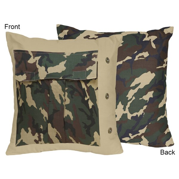 Camo Cotton Throw Pillow by Sweet Jojo Designs