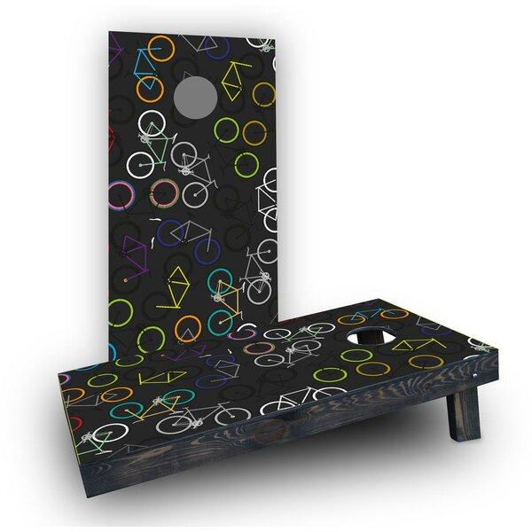 Bicycle Art Cornhole Boards (Set of 2) by Custom Cornhole Boards
