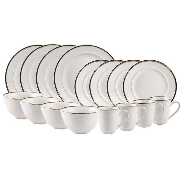 Featherste Rim 16 Piece Dinnerware Set, Service for 4 by Williston Forge