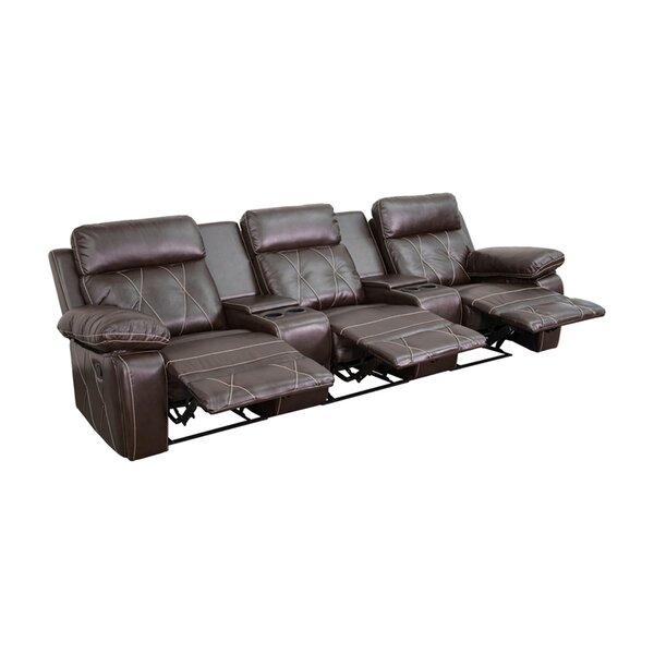 3-Seat Reclining Home Theater Loveseat By Winston Porter