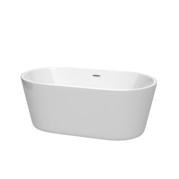Carissa 60 x 32 Freestanding Soaking Bathtub by Wy
