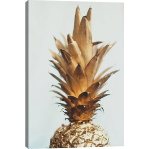 'The Gold Pineapple' Graphic Art Print by Mercury Row