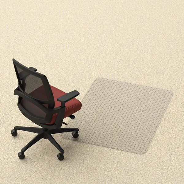 Rectangle Office Low and Medium Pile Carpet Straight Edge Chair Mat by Dimex