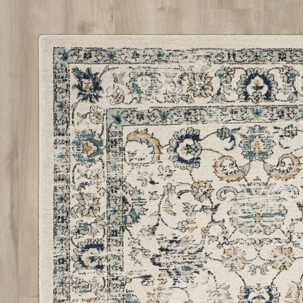 Bahr Beige/Blue Area Rug by Darby Home Co