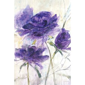 'Velvet Roses Soft' Painting Print on Wrapped Canvas by Lark Manor