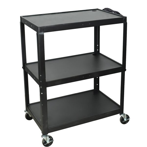 Adjustable Height Steel AV Cart by Offex