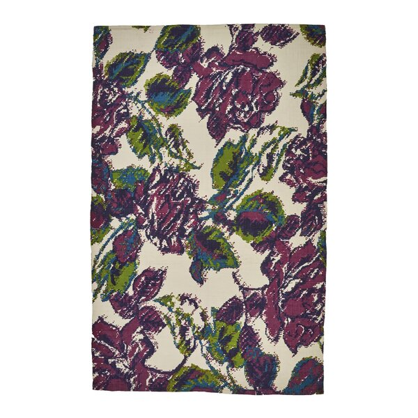 Whitely Hand-Woven Green/Purple Area Rug by Ophelia & Co.