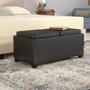 Cassy Leather Tufted Storage Ottoman