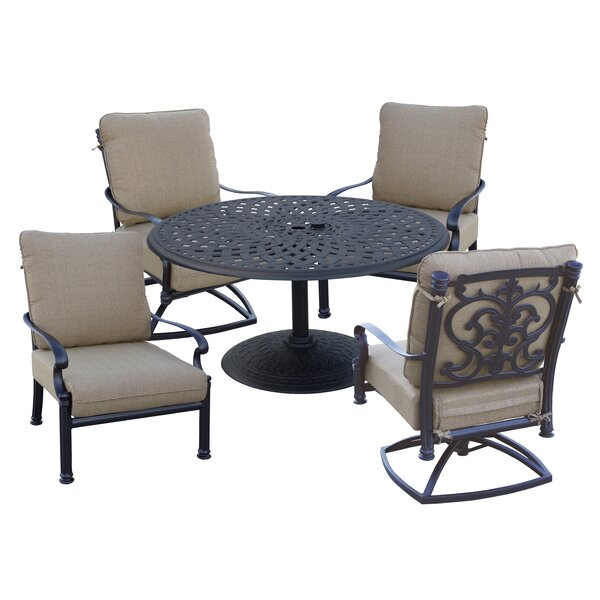 Batista 5 Piece Seating Group with Cushions by Fleur De Lis Living