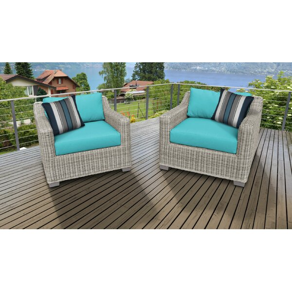 Claire Patio Chair with Cushions (Set of 2) by Rosecliff Heights Rosecliff Heights