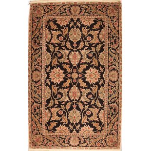 Affordable One-of-a-Kind Wilber Hand-Knotted 5'9 x 6' Wool Brown/Black Area Rug By Isabelline