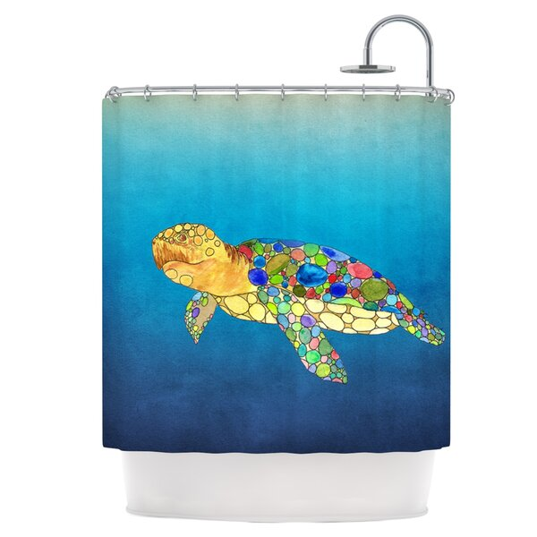 Bubbles Shower Curtain by East Urban Home