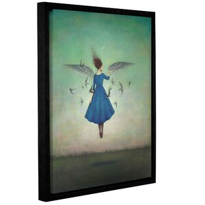 'Swift Encounter' Framed Graphic Art Print on Canvas by Wrought Studio