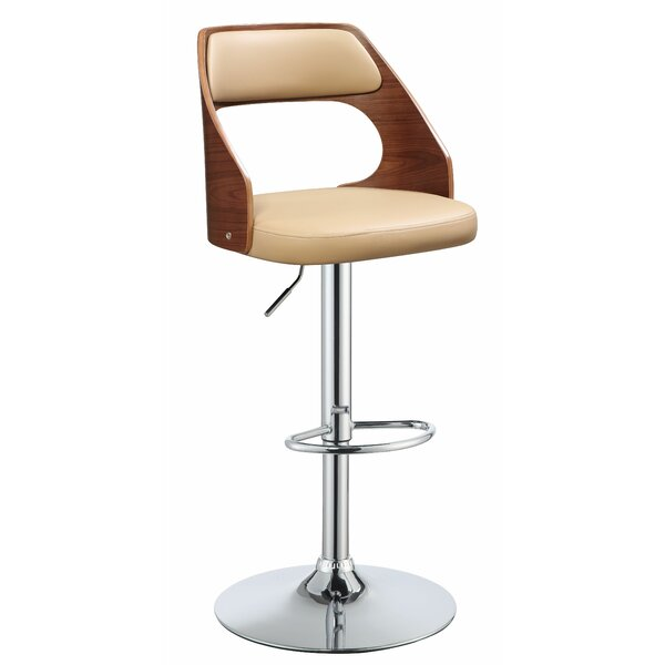 Balmer Adjustable Height Bar Swivel Stool by George Oliver
