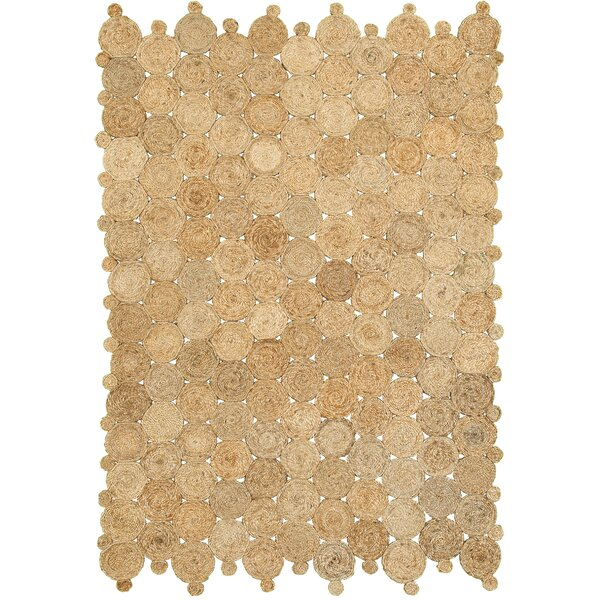 Juniper Hand-Woven Beige Area Rug by Bay Isle Home