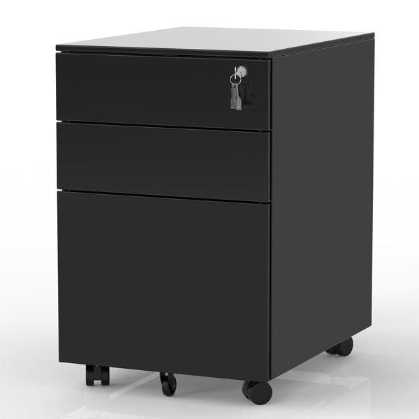 3-Drawer Mobile Vertical Filing Cabinet