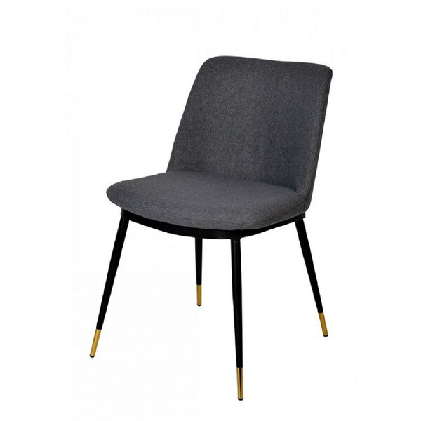 Hangah Upholstered Side Chair In Gray (Set Of 2) By Everly Quinn