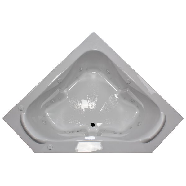 60 x 60 Corner Salon Spa Air/Whirlpool Tub with Raised Headrest by American Acrylic