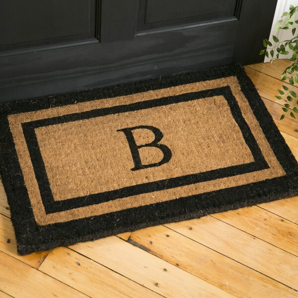 Classic Monogrammed Welcome Doormat by Birch Lane�