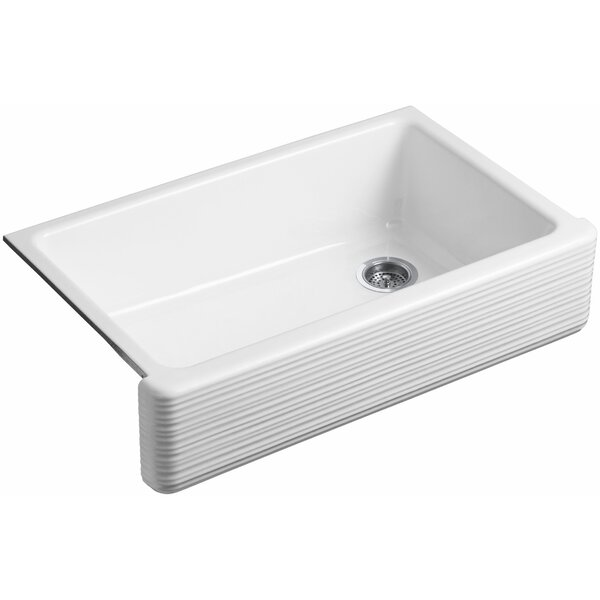 Whitehaven 35.69 L x 21.56 W Farmhouse Single Bowl Kitchen Sink by Kohler