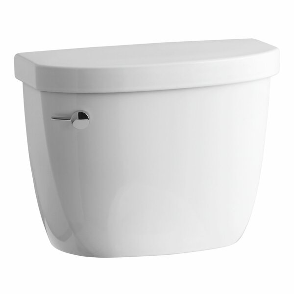 Cimarron 1.28 GPF High Efficiency Toilet Tank with Aquapiston Flush Technology, Insuliner Tank Liner and Tank Locks by Kohler
