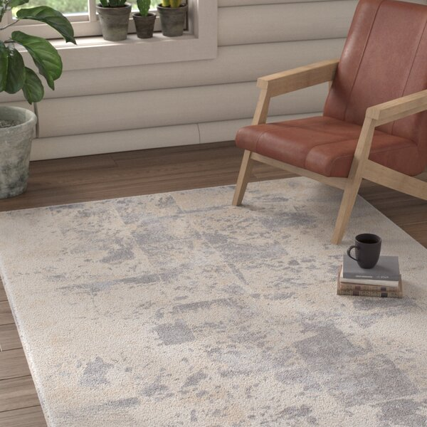 Longshore Medium Gray/Cream Area Rug by Union Rustic