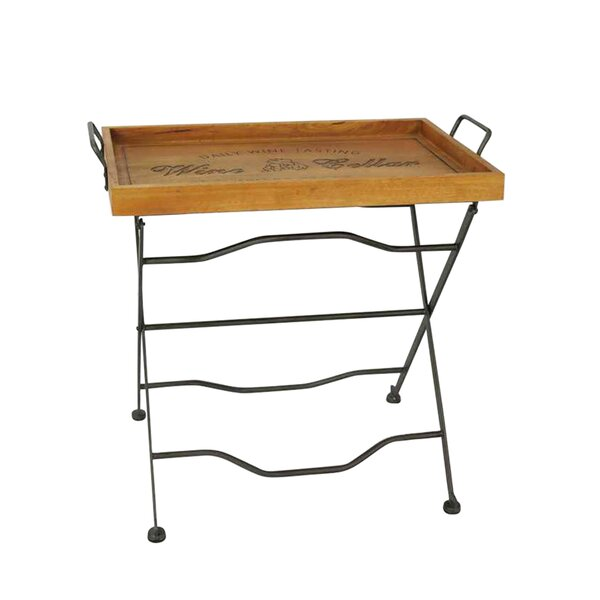 Wooden Rectangular Folding Tray Table by Jeco Inc.