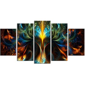Never Ending 5 Piece Graphic Art on Wrapped Canvas Set by Design Art