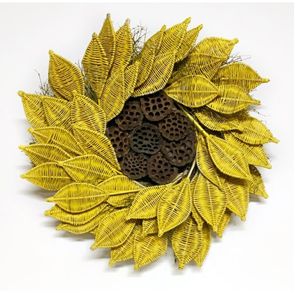 Urban Sunflower 22 Wreath by Dried Flowers and Wreaths LLC