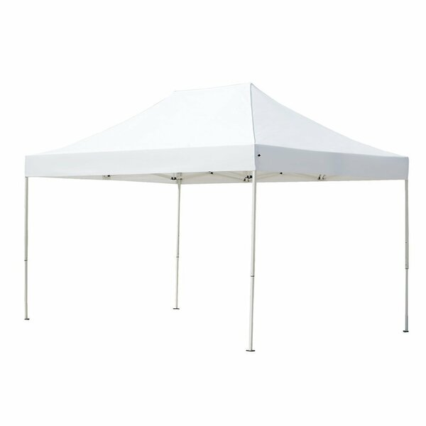Outdoor Heavy-Duty 10 Ft. W x 15 Ft. D Steel Pop-Up Canopy by Abba Patio