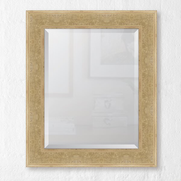 Montecito Ivory Bark Edge Wall Mirror by Melissa Van Hise