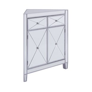 Penny Mirrored Corner 2 Door Accent Cabinet