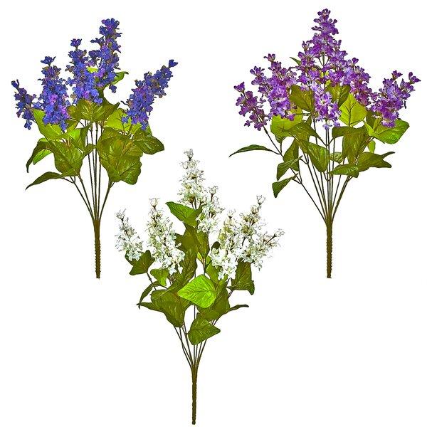Lilac Bush Flowers (Set of 6) by Charlton Home