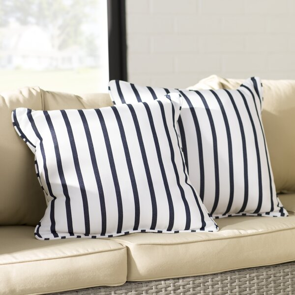 Bulter Indoor/Outdoor Sunbrella Throw Pillow (Set of 2) by Mercury Row