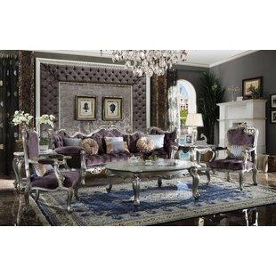 Duncan 3 Piece Velvet Living Room Set by Leebrothers