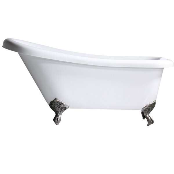 Hotel Acrylic Single 59 x 30 Freestanding Soaking Bathtub by Baths of Distinction