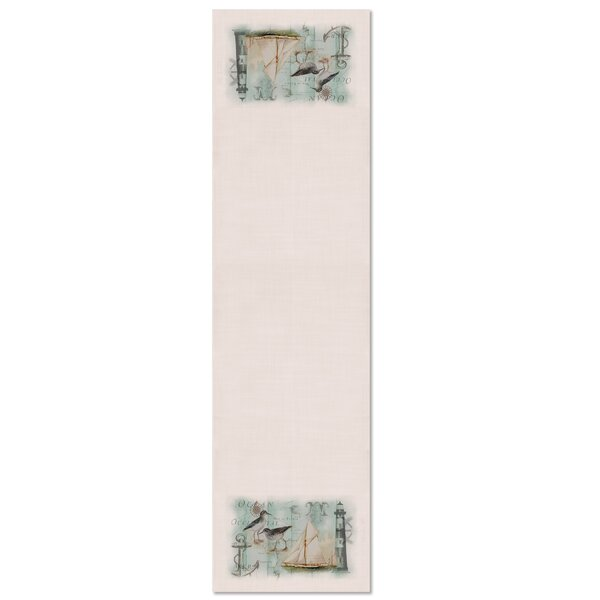 Burtch Coastal Collage Table Runner by Highland Dunes