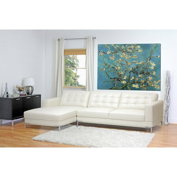 Judith Gap Leather Sectional by Orren Ellis