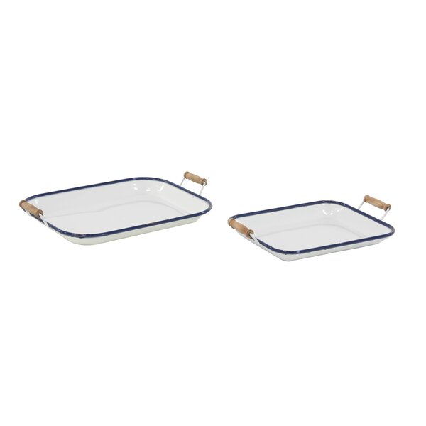 Galloway Traditional Rectangular Serving Tray (Set of 2) by Longshore Tides