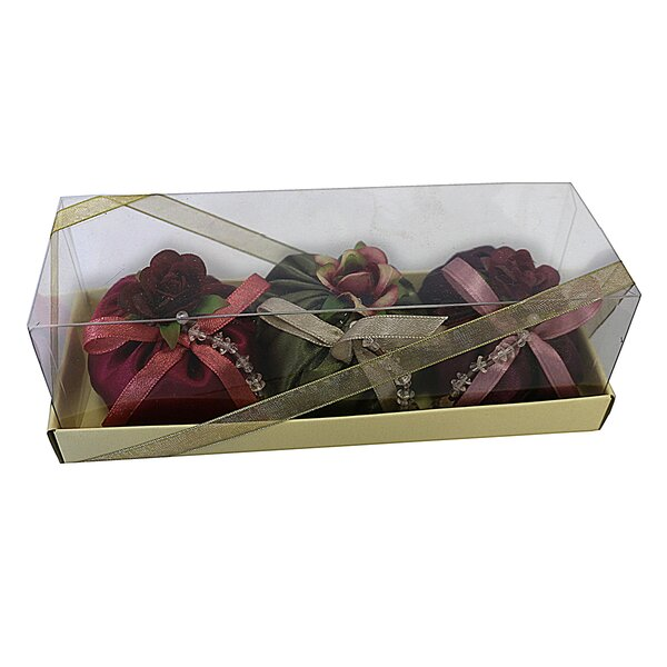 3 Piece Jewelry Sachet Roses Floral Arrangement in Box Set by House of Hampton