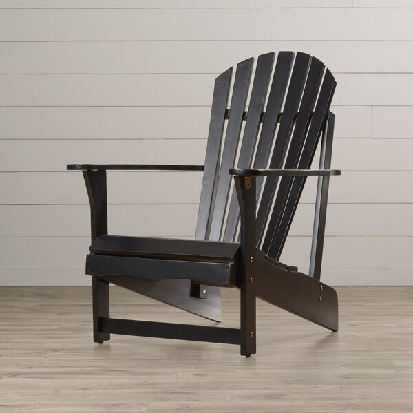Hinman Solid Wood Adirondack Chair by Highland Dunes