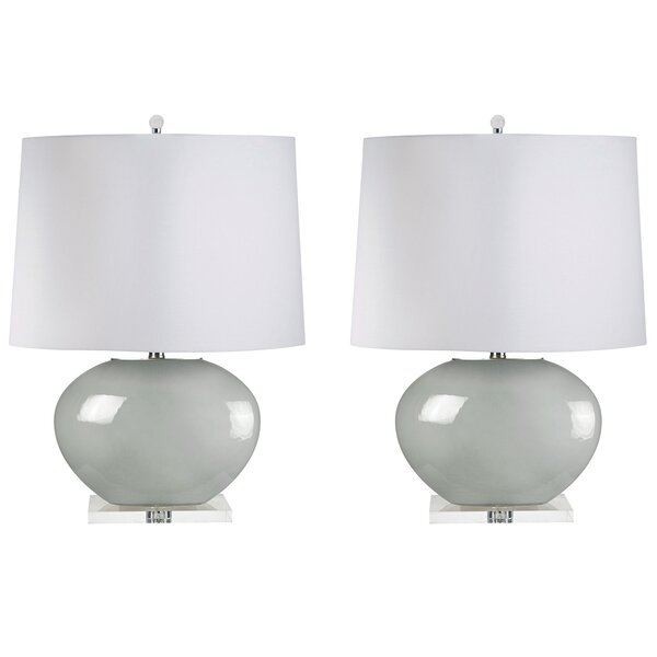 Finlandia Blown Oval 27 Table Lamp (Set of 2) by Canora Grey