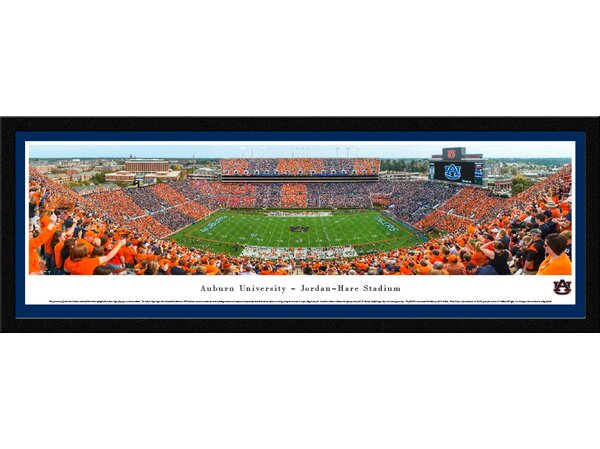 NCAA Auburn University Football - Stripe The Stadium by Christopher Gjevre Framed Photographic Print by Blakeway Worldwide Panoramas, Inc