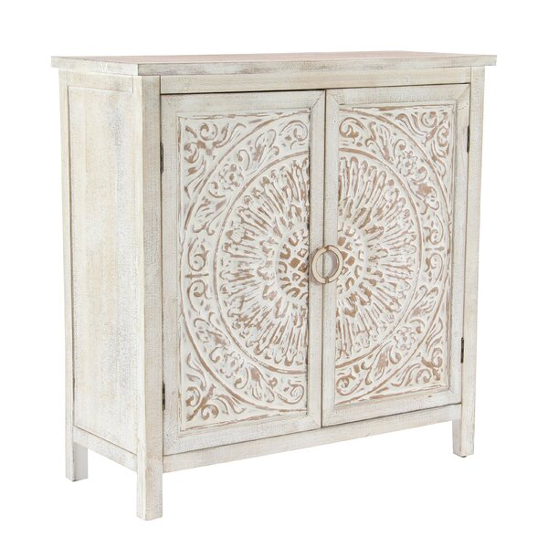 Sydni Traditional Carved Design 2 Door Accent Cabinet by Mistana Mistana